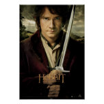 Bilbo with Sword Poster