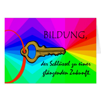 Bildung, Education, Teacher Appreciation, German Card