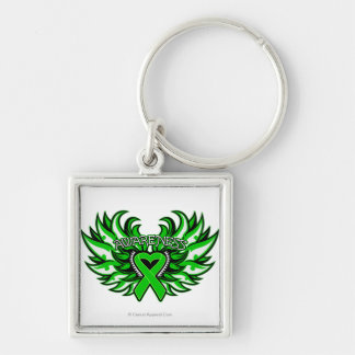 Bile Duct Cancer Awareness Heart Wings.png Keychain