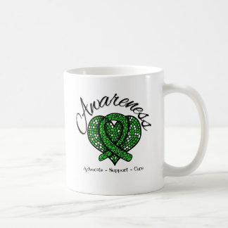 Bile Duct Cancer Awareness Mosaic Heart Classic White Coffee Mug
