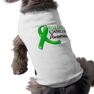 Bile Duct Cancer Awareness Ribbon Doggie T-shirt