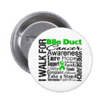 Bile Duct Cancer Awareness Walk Pinback Button