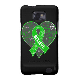 Bile Duct Cancer Believe Ribbon Heart Galaxy S2 Cover