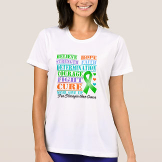 Bile Duct Cancer Believe Strength Determination Tee Shirts