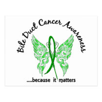 Bile Duct Cancer Butterfly 6.1 Postcard