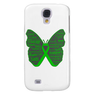 Bile Duct Cancer Butterfly Collage of Words Samsung Galaxy S4 Cover