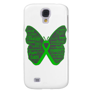 Bile Duct Cancer Butterfly Collage of Words Samsung Galaxy S4 Cases