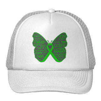Bile Duct Cancer Butterfly Collage of Words Trucker Hat