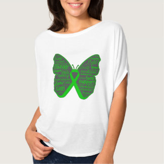 Bile Duct Cancer Butterfly Collage of Words T-shirt