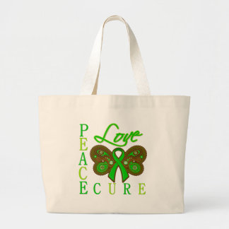Bile Duct Cancer Butterfly Peace Love Cure Bag