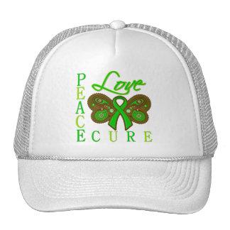 Bile Duct Cancer Butterfly Peace Love Cure Trucker Hat