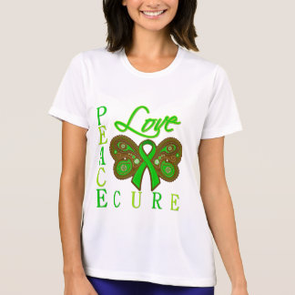 Bile Duct Cancer Butterfly Peace Love Cure T-shirt