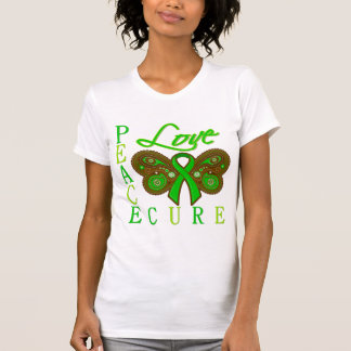 Bile Duct Cancer Butterfly Peace Love Cure Shirt