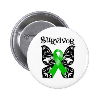 Bile Duct Cancer Butterfly Survivor 2 Inch Round Button