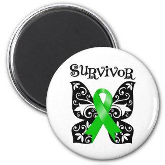 Bile Duct Cancer Butterfly Survivor 2 Inch Round Magnet