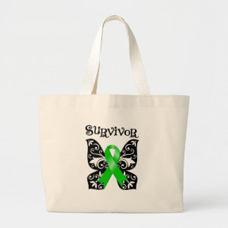 Bile Duct Cancer Butterfly Survivor Jumbo Tote Bag
