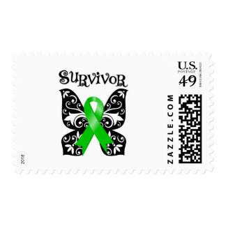 Bile Duct Cancer Butterfly Survivor Postage Stamps