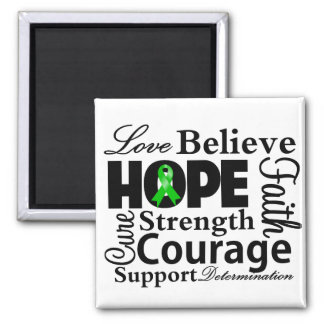 Bile Duct Cancer Collage of Hope 2 Inch Square Magnet
