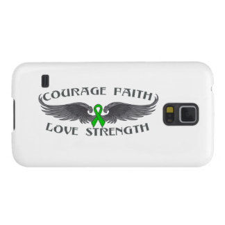 Bile Duct Cancer Courage Faith Wings Galaxy S5 Cover