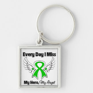 Bile Duct Cancer Every Day I Miss My Hero Silver-Colored Square Keychain