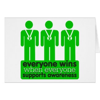 Bile Duct Cancer Everyone Wins With Awareness Greeting Card