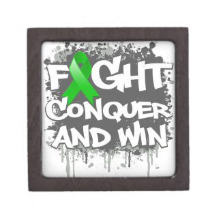 Bile Duct Cancer Fight Conquer and Win Premium Jewelry Box