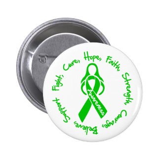 Bile Duct Cancer Fight Cure Hope Logo Pinback Button