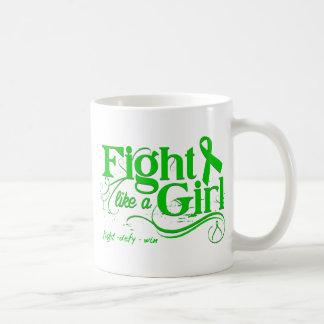 Bile Duct Cancer Fight Like A Girl Elegant Classic White Coffee Mug