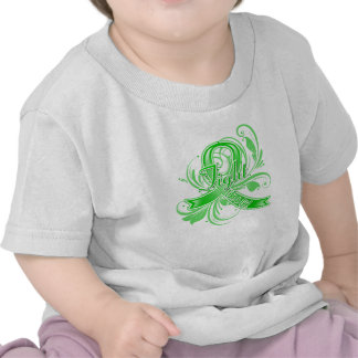 Bile Duct Cancer Fight Like a Girl Flourish T-shirts