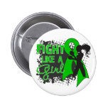 Bile Duct Cancer Fight Like A Girl Grunge Buttons