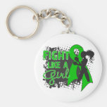 Bile Duct Cancer Fight Like A Girl Grunge Key Chain