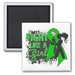 Bile Duct Cancer Fight Like A Girl Grunge Refrigerator Magnets