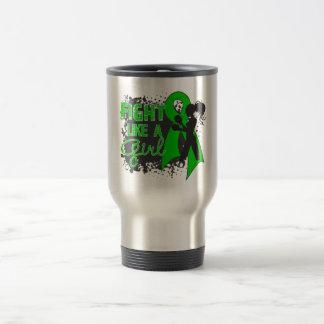 Bile Duct Cancer Fight Like A Girl Grunge 15 Oz Stainless Steel Travel Mug