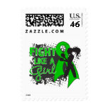 Bile Duct Cancer Fight Like A Girl Grunge Postage Stamps
