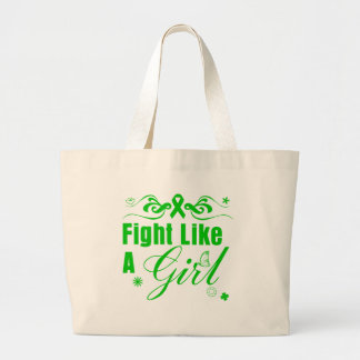 Bile Duct Cancer Fight Like A Girl Ornate Tote Bag