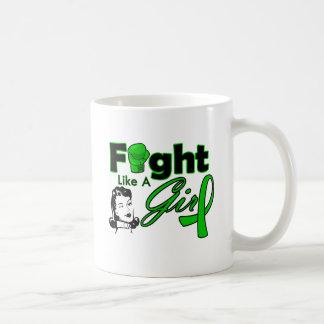 Bile Duct Cancer Fight Like A Girl - Retro Girl Classic White Coffee Mug