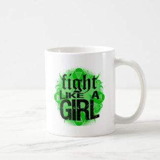 Bile Duct Cancer Fight Like A Girl Rock Ed. Classic White Coffee Mug