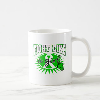 Bile Duct Cancer Fight Like A Girl Sporty Callout Classic White Coffee Mug