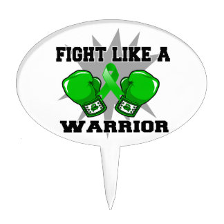 Bile Duct Cancer Fight Like a Warrior Cake Topper