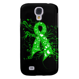 Bile Duct Cancer Floral Swirls Ribbon Galaxy S4 Case