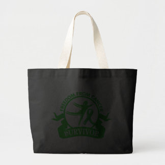 Bile Duct Cancer - Freedom From Cancer Survivor Tote Bag