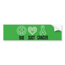 Bile Duct Cancer Green Bumper Sticker