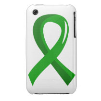 Bile Duct Cancer Green Ribbon 3 Case-Mate iPhone 3 Case
