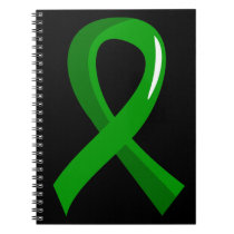 Bile Duct Cancer Green Ribbon 3 Notebook