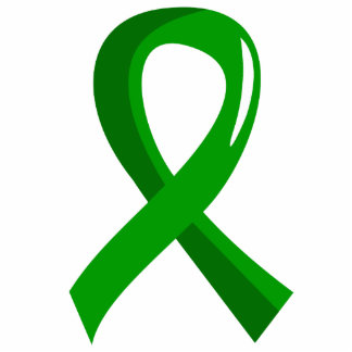 Bile Duct Cancer Green Ribbon 3 Photo Cut Out