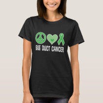 Bile Duct Cancer Green Ribbon T Shirt