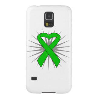 Bile Duct Cancer Heart Ribbon Galaxy S5 Cases