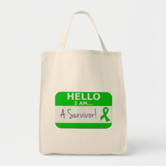 Bile Duct Cancer Hello I Am A Survivor Tote Bags