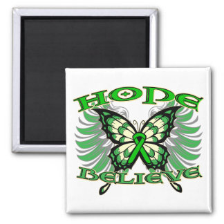 Bile Duct Cancer Hope Believe Butterfly Magnet