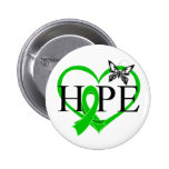 Bile Duct Cancer Hope Butterfly Heart Décor 2 Inch Round Button